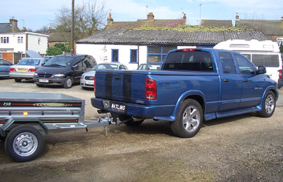Dodge Ram 1500 with Daxara 198 trailer